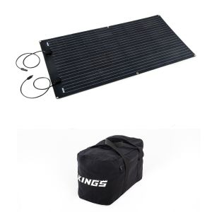 Adventure Kings 160W Semi-Flexible Solar Panel + Heavy-Duty Duffle Bag