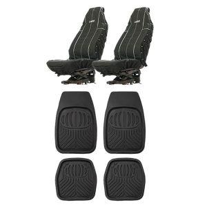 Adventure Kings Heavy Duty Seat Covers + Deep Dish Floor Mat Set of 4