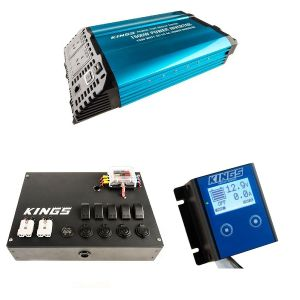 Adventure Kings 1500W Inverter + 12V Control Box + 12V Battery Monitor