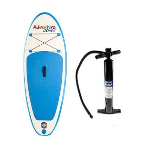 Kids Inflatable Stand-Up Paddle Board + Single-Action Paddleboard Pump