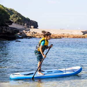 Kids Inflatable Stand-Up Paddle Board   6ft 10in   HUGE 70kg rating   Inc.paddle