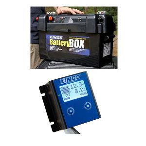 Adventure Kings Maxi Battery Box + 12V Battery Monitor