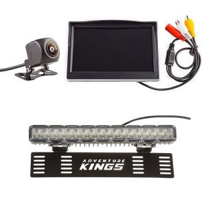 """Adventure Kings Reverse Camera Kit with 5"""" Screen +15"""" Numberplate LED Light Bar"""