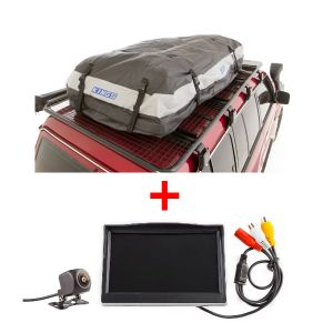 "Adventure Kings Premium Roof Top Bag + Reverse Camera Kit with 5"" Screen"