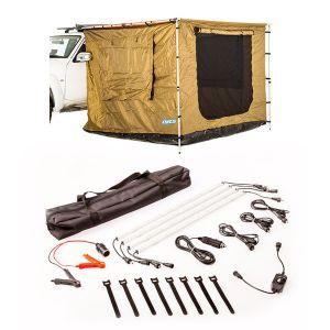 Adventure Kings 2.5x2.5m Awning Tent + Illuminator 4 Bar Camp Light Kit