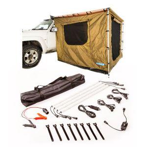 Adventure Kings 2x2.5m Awning Tent + Illuminator 4 Bar Camp Light Kit