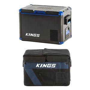 Adventure Kings 45L Camping Fridge/ Freezer + Insulating Cover | 12v/24v/240v | -18c to +10c | SECOP Compressor