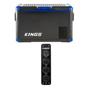 Adventure Kings 60L Camping Fridge/Freezer + 12V Accessory Panel