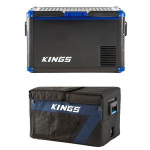 Adventure Kings 60L Camping Fridge/ Freezer + Insulating Cover | 12v/24v/240v | -18c to +10c | SECOP Compressor