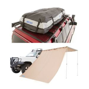 Adventure Kings Awning Side Wall + Adventure Kings Premium Waterproof Roof Top Bag
