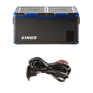 Kings 90L Camping Fridge Freezer   Dual Zone + 12v Fridge Wiring Kit