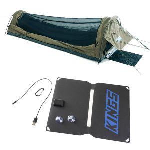 Adventure Kings Single Swag - Kwiky + 10W Portable Solar Kit