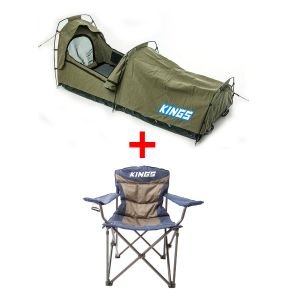 Adventure Kings - Single Swag Escape + Adventure Kings Throne Camping Chair