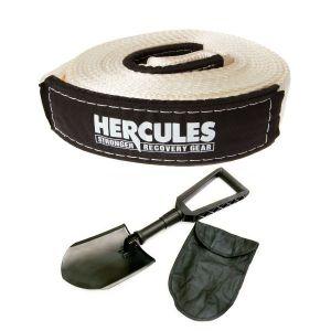 Hercules - Snatch Strap 11000kg + Hercules Recovery Folding Shovel