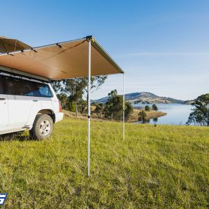 Kings 2.5x2.5m Side Awning | Suits All Vehicles | inc l Mounting Kit | Waterproof | UPF50+ Rated