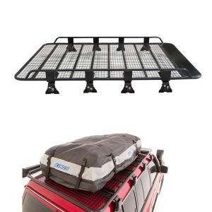 Steel Tradesman Roof Racks + Adventure Kings Premium Waterproof Roof Top Bag