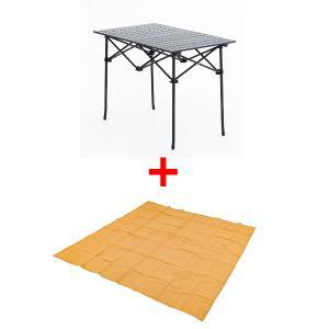 Adventure Kings Aluminium Roll Up Camping Table + Mesh Flooring 3m x 3m