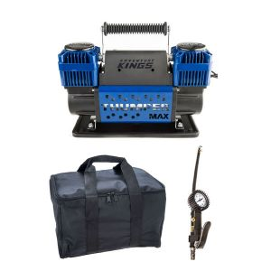 Thumper Max Dual Air Compressor + Kings Polyester Air Compressor Bag + 3in1 Ultimate Air Tool