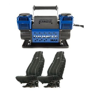 Thumper Max Dual Air Compressor + Adventure Kings Heavy Duty Seat Covers