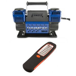 Thumper Max Dual Air Compressor + Adventure Kings Illuminator 24 LED Work Light