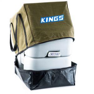 Kings Premium Canvas Camping Toilet Bag | 400GSM | Heavy Duty Straps | PVC Base