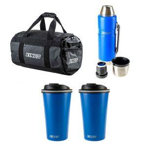 Adventure Kings 40L Large PVC Duffle Bag + 1.2L Vacuum Flask + 2x 410ml Travel Mug