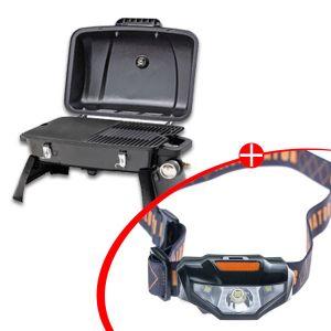 Gasmate Voyager Portable BBQ + Illuminator LED Head Torch