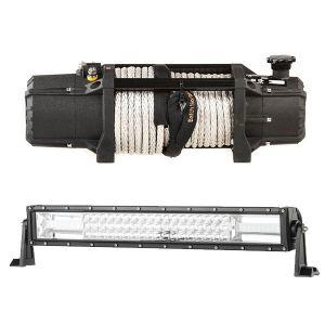 "Domin8r Xtreme 12,000lb Winch + Domin8r 22"" LED Light Bar"