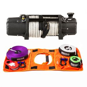 Domin8r X 12,000lb Winch with rope + Hercules Essential Nylon Recovery Kit